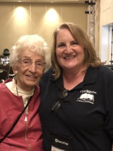 Founder of Literacy Volunteers of America Ruth Colvin poses with ReadWest Executive Director Muncie Hansen.